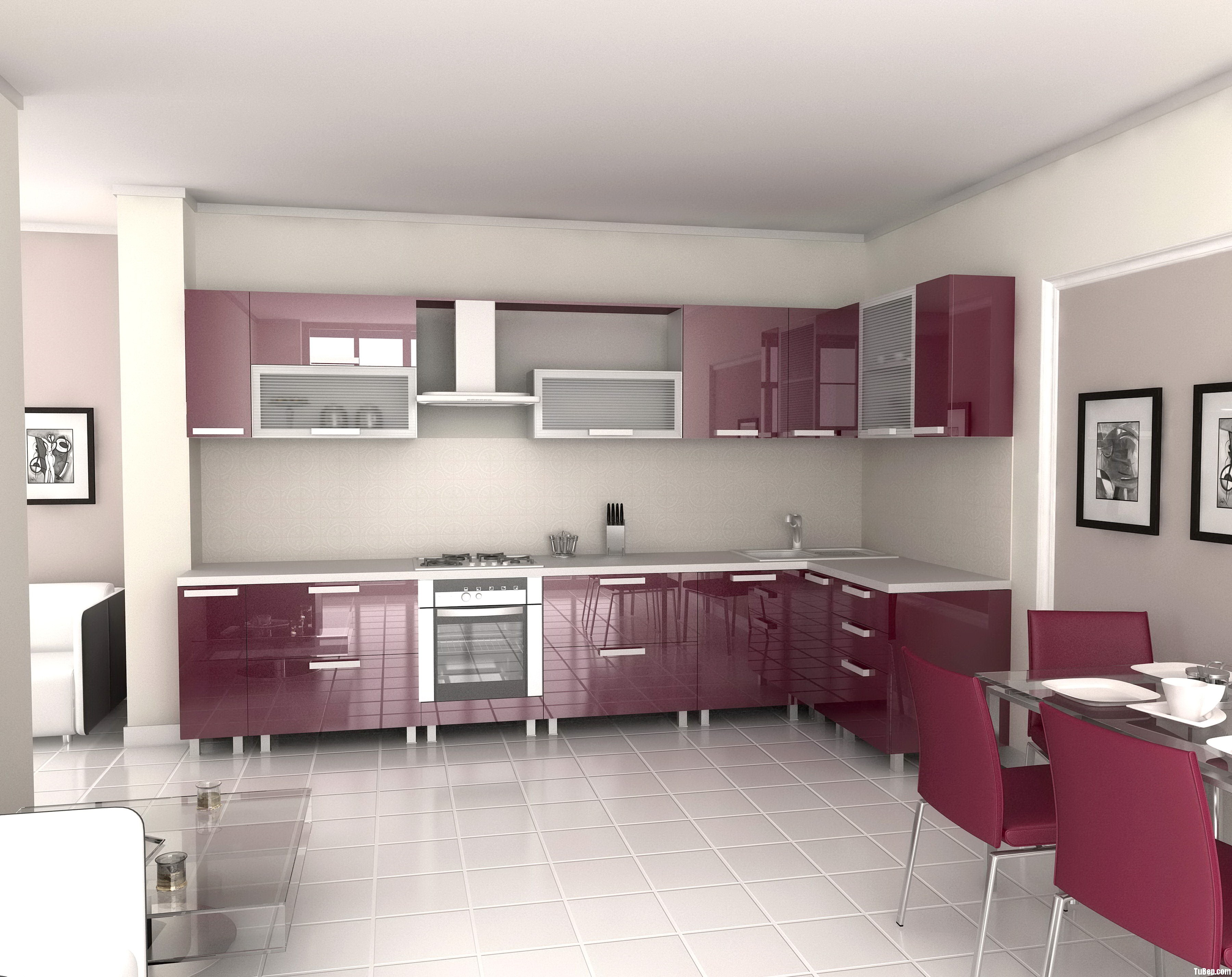 uncategorized awesome good kitchen design modern kitchen with high gloss acrylic kitcen cabinets decoration design create good kitchen design to solve constricted space problem be practical and deligh Tủ bếp gỗ Acrylic TBT0102